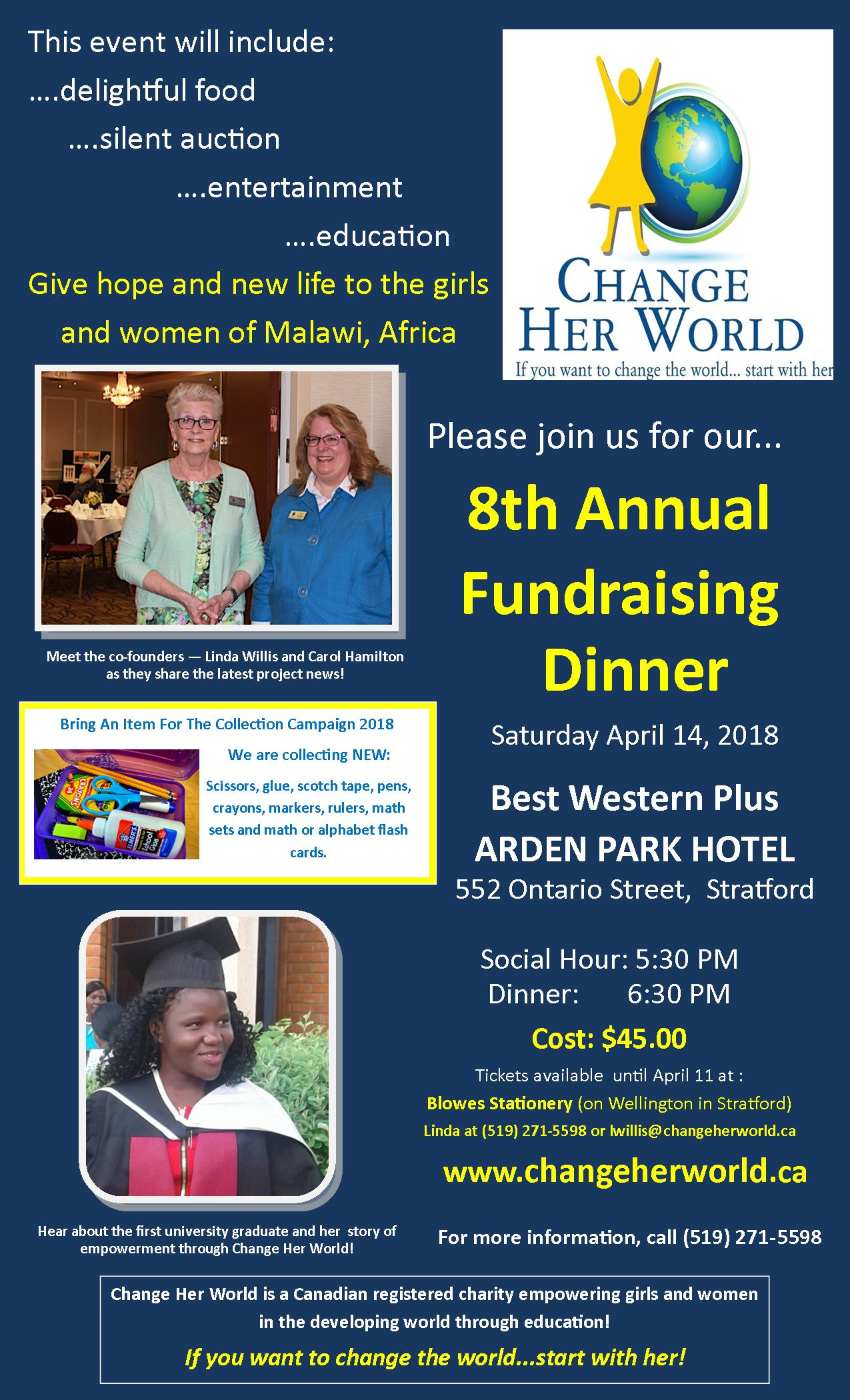Annual Fundraising Dinner: April 14 2018