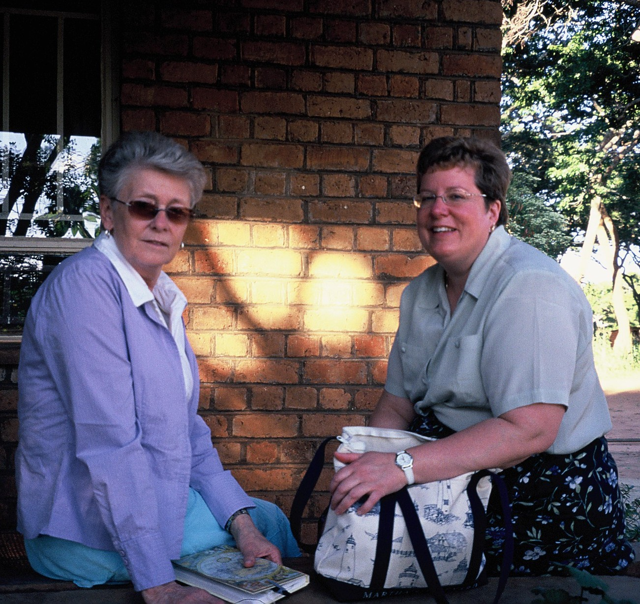 Carol and Linda in malawi on first trip 2006